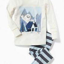 Nwt Baby Gap Boys Pajamas Pjs Xmas Holiday Yeti  Size 2t 2 Photo