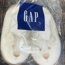 Nwt Baby Gap Cream White Bear Toddler  11 Xl Slippers Shoes New Boys Girls Photo