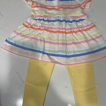 Nwt Baby Gap Factory Toddler Girls Striped Tunic & Legging Set 18-24 Months Photo