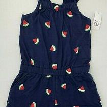 Nwt Baby Gap Girls 3t Navy Blue Watermelon Print Shorty Romper Photo