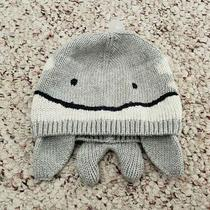 Nwt Baby Gap Girls or Boys Light Gray Whale Sea Creature Knit Hat Sz Newborn Photo