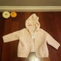 Nwt Baby Gap Girls Pink Bear Hooded Cardigan Sweater Photo