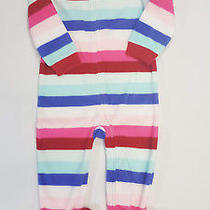 Nwt Baby Gap Girls Size 2t or 5t Pink Fleece Crazy Stripes Footed Pajamas Pjs Photo