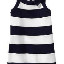 Nwt Baby Gap Girls Villa Oasis Navy & White Bow Dress Size 5 Photo
