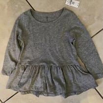 Nwt Baby Gap Heather Gray Peplum Top Size 3t Brand New Photo