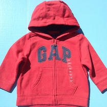 Nwt Baby Gap Hooded Zip Up Sweater With Gap Logo Size 12-18 Months Fast Shipping Photo