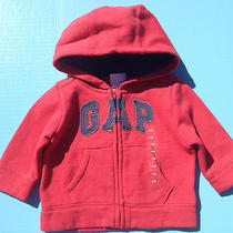 Nwt Baby Gap Hooded Zip Up Sweater With Gap Logo Size 3-6 Months Fast Shipping Photo