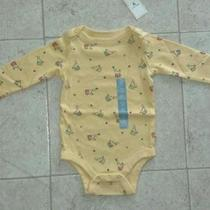 Nwt Baby Gap Infant Unisex Bodysuit   Size 3-6 Months  Yellow Circus Seals Print Photo