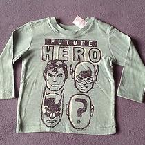 Nwt Baby Gap Junk Food Boys Future Hero Long Sleeve Tee Shirt 12-18 Months Green Photo