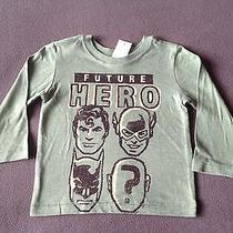 Nwt Baby Gap Junk Food Boys Future Hero Long Sleeve Tee Shirt 18-24 Months Green Photo
