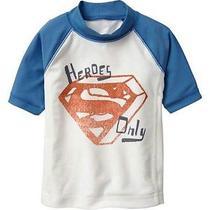 Nwt Baby Gap Junk Food Superman Superhero Rashguard Swim Top Swimwear 3t 3 Yrs Photo