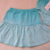 Nwt Baby Gap Kids Turquoise Aqua Blue Dip Tie Dye Skirt 4t 4 Beach Dress Photo