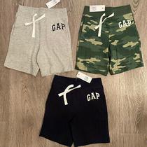Nwt Baby Gap Logo 18-24 Month Shorts Lot Boys Gray Navy Blue Green Camoflauge Photo