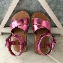 Nwtbaby Gapmetallic Shiny Pink Baby Girl Toddler Sandalsbeachsize 7new Photo