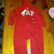 Nwt Baby Gap Red Best One Pc Sweatshirt Outfit Red Sz 18/24 Months Photo