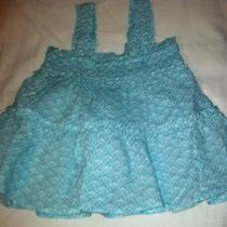 Nwt Baby Gap Smocked  Aqua Ruffle Swing Top Size 18/24 Mo Photo