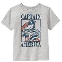 Nwt Baby Gap Toddler Boys Junk Food Short-Sleeve Gray Captain America Size 5t Photo