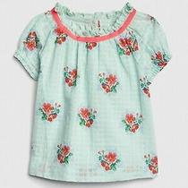 Nwtbaby Gaptoddler Girl Puff Sleeve Floral Print Topshirt3t 3 Yearsnew Photo