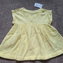 Nwtbaby Gaptoddler Girl Solid Yellow Summer Baby Doll Topshirt3 Years3tnew Photo
