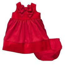 Nwt Baby Girl Size 18 Months Carters Red Holiday Special Occasion Dress Photo