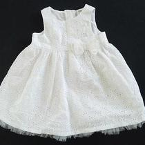 Nwt Baby Girl Size 6-9 Months H & M White Eyelet 100% Cotton Dress Very Pretty. Photo