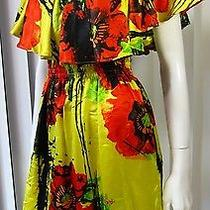 Nwt Backstage Short Sleeve Dress Size 2 Floral Print Multicolored  Photo