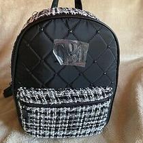 Nwt Badgley Mischka Black Diamond Quilted Backpack Black/white Photo