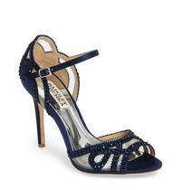 Nwt Badgley Mischka Embellished Mesh Stiletto Heel Size 7.5 Photo
