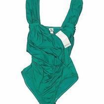 Nwt Badgley Mischka Women Green One Piece Swimsuit 6 Photo