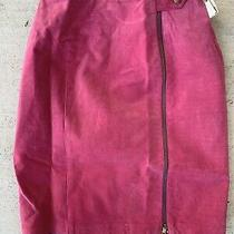 Nwt Bagatelle Pink Full Zip Suede Pencil Skirt Size 6 Photo