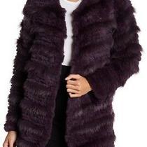 Nwt Bagatelle Tiered Rabbit Fur & Fox Fur Coat 6340 Eggplant Jacket Small S 798 Photo