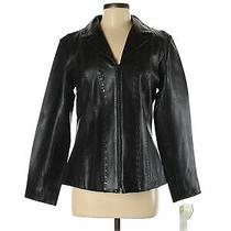 Nwt Bagatelle Women Black Leather Jacket 8 Photo
