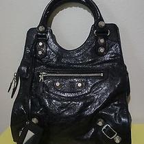 Nwt Balenciaga Giant Black Silver Folder Bag Handbag Tote Shoulder Bag Hobo  Photo