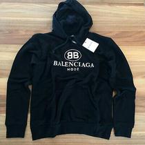 Nwt Balenciaga  New Black Color Long Sleeve Cotton Hoodie Sweatshirt Size Large Photo