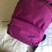 nwt.balenciaga Small Wheel Logo Fuchsia Pink Nylon Shoulder Backpack Rv 950 Photo