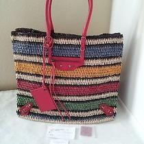Nwt Balenciaga Striped Straw Tote Bag Shoulder Bag Sold Out  Photo