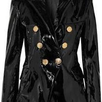 Nwt Balmain Black Patent Leather Jacket Sz Fr 38 Photo