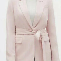 Nwt Banana Republic Factory Blush Pink Sz 8 Soft Tie-Waist Long Blazer Photo