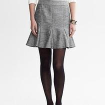 Nwt Banana Republic Fluted Shine Silver Skirt - Size 4 Tall Photo