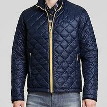 Nwt Barbour Blue W/ Contrasting Yellow Large 42-44 Nylon Quilted Kellen Jacket Photo