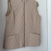 Nwt Barbour Gilet Vest Uk16/us14 Beige Microfiber Photo