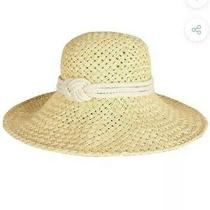 Nwt Barbour Sealand Straw Nautical Rope Knot Sun Hat Small Photo