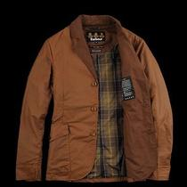 Nwt Barbour Stanley Waxed Field Barn Jacket - Bark S - Msrp 349  Photo