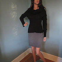 Nwt Bcbg Black Over the Shoulder Cable Sweater Xsmall - Retail 178 Photo
