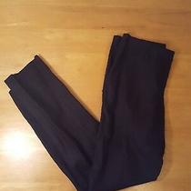 Nwt Bcbg Black Woven Sportswear Pant Casual Linen Skinny Slacks Size 0  Photo