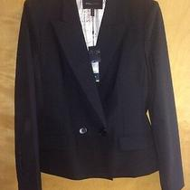 Nwt Bcbg Max Azria Black Wool Blazer Jacket Sz L Photo