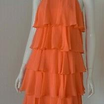 Nwt Bcbg Max Azria Kassidy Tiered Embellished Dress in Ambrosia Size Xs/xxs Photo
