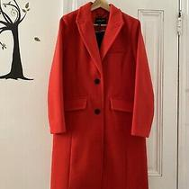 Nwt Bcbg Max Azria Warm Wool Coat Large Cherry Red 398 Photo