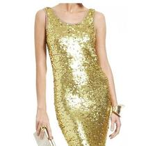 Nwt Bcbg Maxazria Size Xs Gold Sequin Nina Dress  Photo