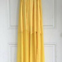 Nwt Bcbg Maxazria Strapless Chiffon Maras Yellow Glow Dress Sz 4 Retails 348.00 Photo